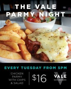 The Vale Parmy Night @ Yangebup | Western Australia | Australia