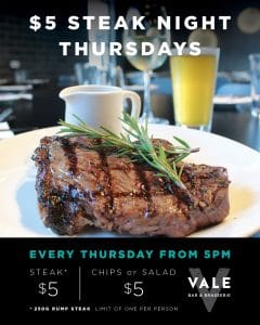 $5 Steak Night Thursdays @ Beeliar | Western Australia | Australia